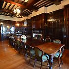 The formal Dining Room in Iandra Castle Greenethorpe NSW by geoffgrattan
