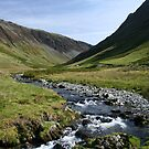 Water Flow through Honister Pass by Marilyn Harris