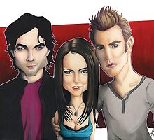 Vampire Diaries  - Caricature by Thomas Birrell