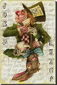 Mad Hatter Joker Card by darickmaasen