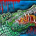 Crocodile Lollipop - Morbid Fantasy Art by Laura Barbosa