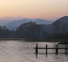 Waterhead - Winter Sunset by rennaisance
