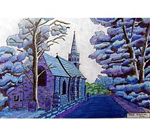 350 - BEADNELL BLUE - DAVE EDWARDS - COLOURED PENCILS & INK - 2012 Photographic Print