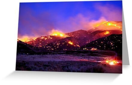 Palomino Valley Wild Fire (The Ironwood Fire) by SB  Sullivan