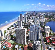 Gold Coast view from Q1 Tower by Sajid Peña