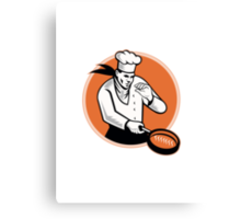 Chef Cook Cooking Pan Circle Canvas Print