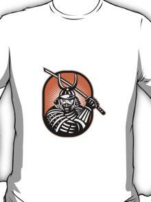 Japanese Samurai Warrior Sword Retro T-Shirt