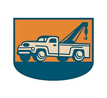 Vintage Tow Wrecker Pick-up Truck by patrimonio