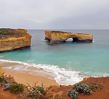 London Bridge. Port Campbell National Park, Victoria, Australia. by Ralph de Zilva