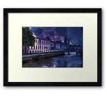Night Storm - The City of  Cork, Ireland Framed Print