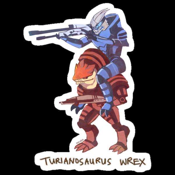Turianosaurus Wrex by derlaine