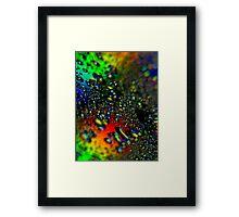 Waterdrops - Rainbow Colors II Framed Print