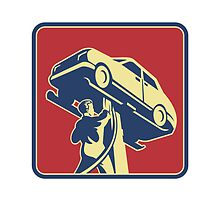 Mechanic Technician Car Repair Retro by patrimonio
