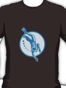 Scuba Diver Diving Retro T-Shirt
