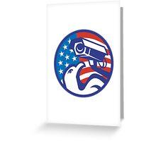 American Bald eagle Security Camera Greeting Card