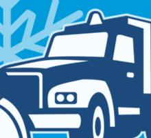 Snow Plow Truck Retro Sticker