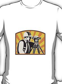 Surveyor Engineer Theodolite Total Station Retro T-Shirt