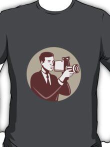 Photographer Shooting Video Camera Retro T-Shirt