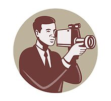 Photographer Shooting Video Camera Retro by patrimonio