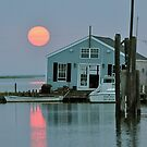 Sun Setting Over Smith Island by Monte Morton
