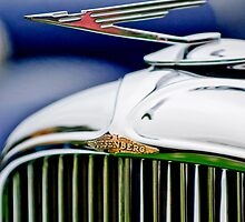 1934 Duesenberg J Murphy Convertible Coupe Hood Ornament and Emblem by Jill Reger