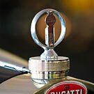 1930 Bugatti Type 43 Supercharged Sports Hood Ornament and Emblem by Jill Reger