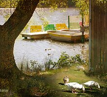 """By Daylesford Lake"", from the book, ""Daylesford Days"", by Chris Armytage by ArmytageArts"