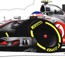 F1 2012 - McLaren MP4-27 - Jenson Button Sticker