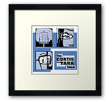 Curtis and Tara Show Blue Period Logo  Framed Print