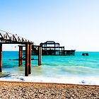 West Pier at Brighton Beach by Megas