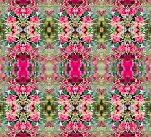 Pink Floral Fusion Kaleidoscope IPhone Case by Circe Lucas