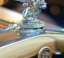 1929 Gardner Series 120 Eight-in-Line Roadster Hood Ornament and Emblem by Jill Reger