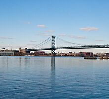 Benjamin Franklin Bridge by Philip Amoroso