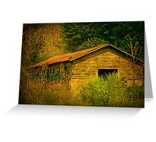 Deep in the woods there sits an abandoned farm Greeting Card