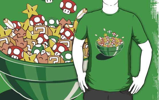 Mario Bros. Power Up Cereal by BodomChild666