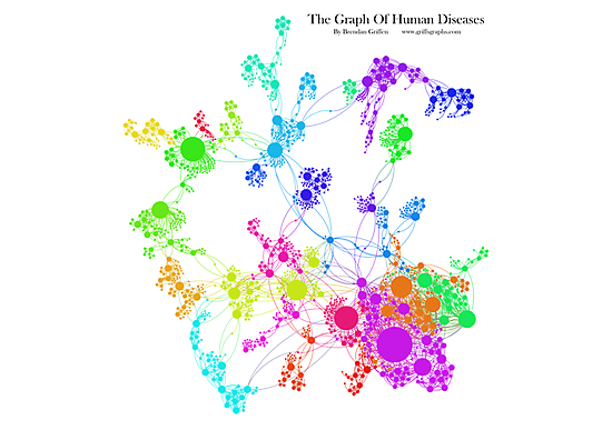 The Graph Of Human Diseases by griffsgraphs
