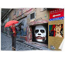 Miekes dream walk in Hosier Lane Poster