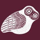 greek owl (white) by AAA-Ace