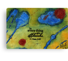 Giving Thanks Canvas Print