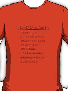 Skyrim To-Do List T-Shirt
