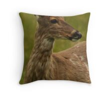 Deer Bust Portrait Throw Pillow