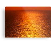 Lake Michigan Sunrise on the Horizon Metal Print