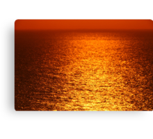 Lake Michigan Sunrise on the Horizon Canvas Print
