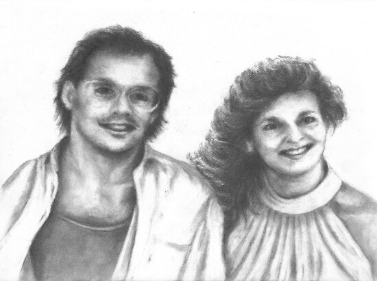 1980's Happy Couple by Pam Humbargar