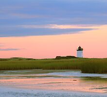 Early Light at Wood End Light by Roupen  Baker