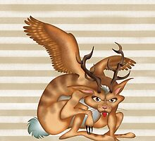 Wolpertinger (brown) by makoshark