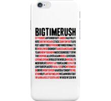 BTR songlist (red&black text) iPhone Case/Skin