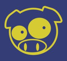 Yellow Subaru Mascot Pig by avdesigns