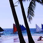 when sailboats pose by lensbaby