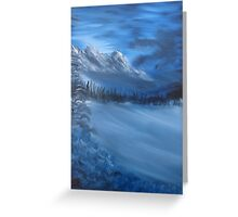 """Blue Ridge""  by Carter L. Shepard Greeting Card"